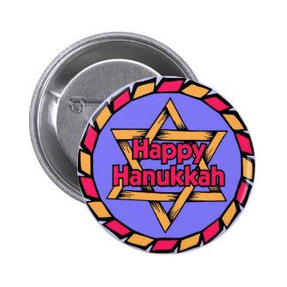 Happy Hanukkah Standard, 2¼ Inch Button