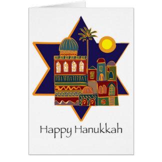 Happy Hanukkah Star Greeting Card