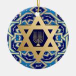 Happy Hanukkah! Star of David and Menorah Design