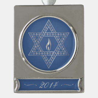 Happy Hanukkah & Star Of David - Banner Ornament