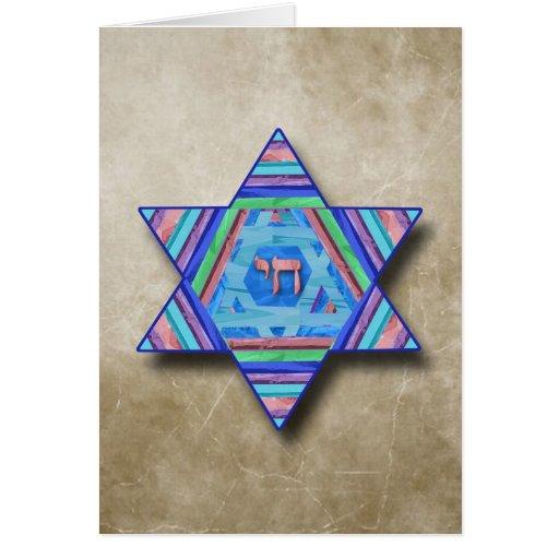 Happy Hanukkah Star of David Greeting Card