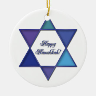 Happy Hanukkah Star of David Ornament