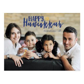 Happy Hanukkah Star of David Photo Postcards