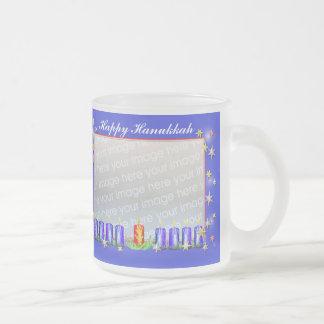 Happy Hanukkah Stars and Candles 2-Photo Frame Mug