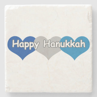Happy Hanukkah Stone Coaster