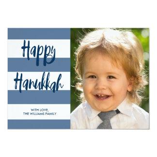 Happy Hanukkah Striped Holiday Card