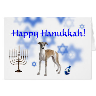 Happy Hanukkah Whippet Cards
