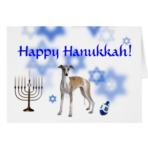 Happy Hanukkah Whippet Cards