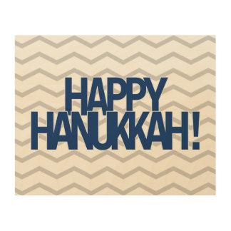 Happy Hanukkah! Wood Print