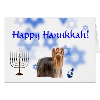 Happy Hanukkah Yorkshire Terrier Cards