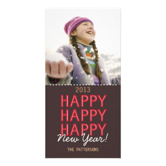 Happy Happy Happy New Year Photo Card Greeting
