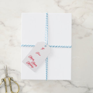 Happy Happy Holidays with To & From - Gift Tags