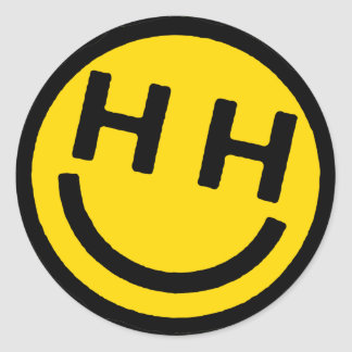 Happy Hardcore Yellow Smiley Face Stickers