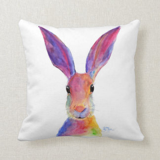 Happy Hare 'Jelly Bean' Throw Pillow