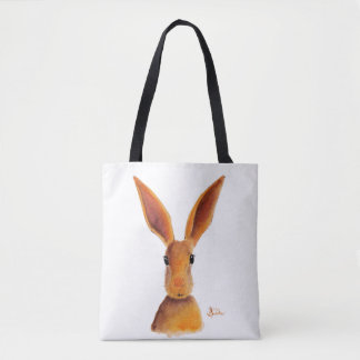 Happy Hare / Rabbit ' GOLDEN JELLY BEAN ' Tote Bag