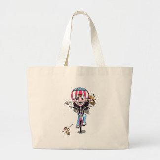 Happy Harry & Hooch (Bikers?) Canvas Bag