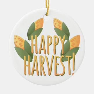 Happy Harvest Ceramic Ornament