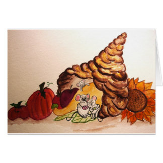 Happy Harvest Fall Autumn Thanksgiving car Card