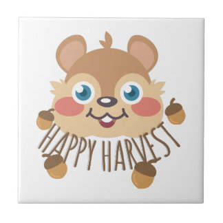 Happy Harvest Small Square Tile