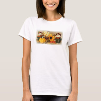 Happy Harvest t-shirt with two scarecrows