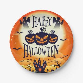 Happy Haunted Halloween Paper Plate