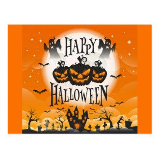 Happy Haunted Halloween Postcard