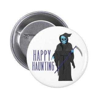 Happy Haunting 6 Cm Round Badge