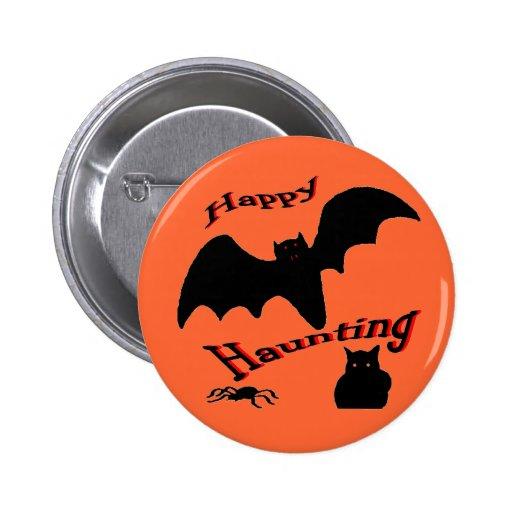 Happy Haunting Halloween Button