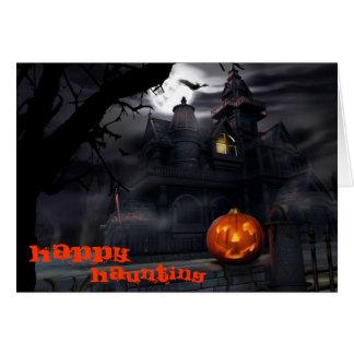 Happy Haunting Halloween Card