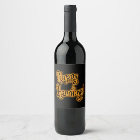 Happy Haunting! | Halloween Wine Label