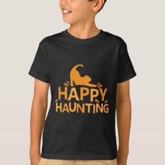 happy haunting with cat and corn T-Shirt