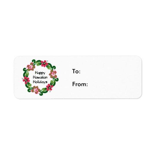 Happy Hawaiian Holiday Return Address Label
