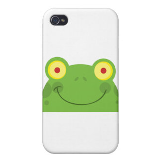 Happy Head Frog Cartoon Character iPhone 4 Case