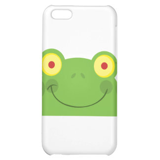 Happy Head Frog Cartoon Character Case For iPhone 5C