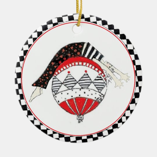 Happy Healthy Balanced Pilates Holiday Ceramic Ornament