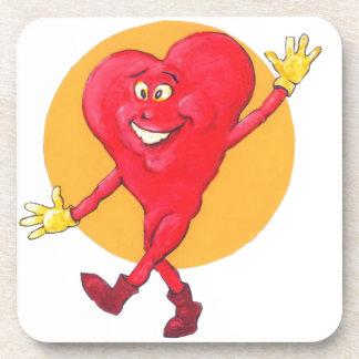 Happy Healthy Heart Drink Coaster