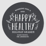 Happy Healthy Holiday | Gift Tag Stickers