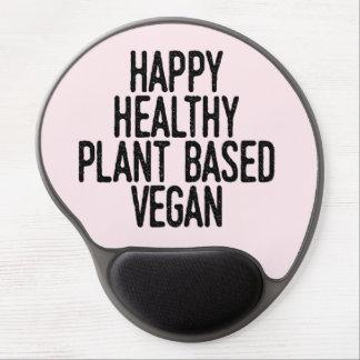 Happy Healthy Plant Based Vegan (blk) Gel Mouse Pad