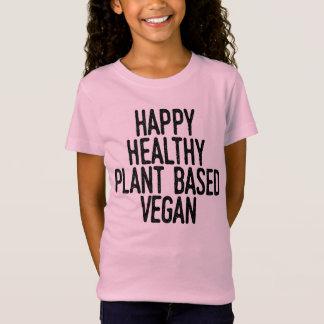 Happy Healthy Plant Based Vegan (blk) T-Shirt