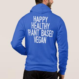 Happy Healthy Plant Based Vegan (wht) Hoodie