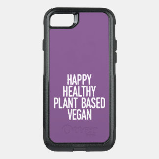 Happy Healthy Plant Based Vegan (wht) OtterBox Commuter iPhone 8/7 Case