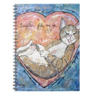 Happy heart cat notebooks