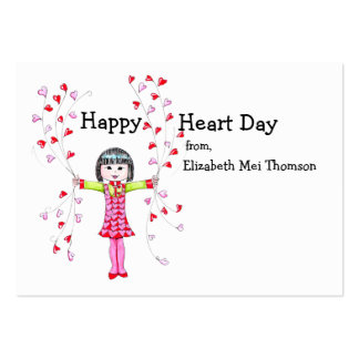 Happy Heart Day Valentines Business Card