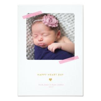 HAPPY HEART DAY valentine's day photo card 13 Cm X 18 Cm Invitation Card