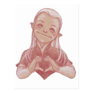 Happy Heart Elfling Postcard