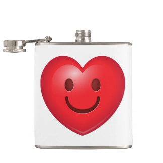 Happy Heart Emoji Hip Flask