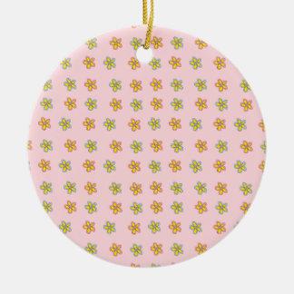 Happy Heart Flowers Ornament