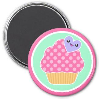 Happy Heart Kawaii Cupcake Magnet