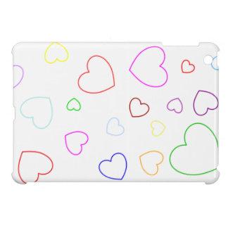 Happy Hearts 1 - Colourful - Cute Girly Case - Case For The iPad Mini