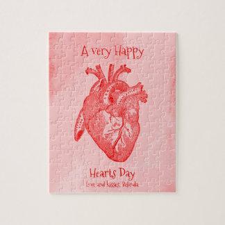 Happy Hearts Day Valentine Jigsaw Puzzle